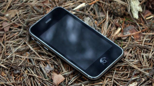 iphone w lesie